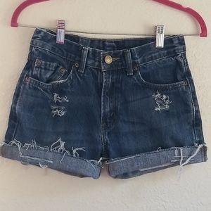 Distressed Levi's shorts 14 kids